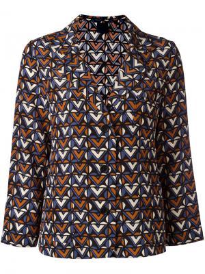 Рубашка в пижамном стиле с узором Aspesi. Цвет: синий