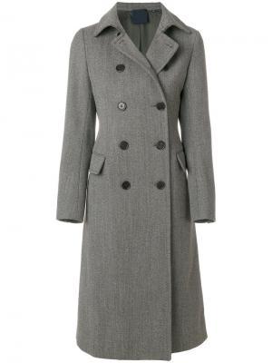 Двубортное пальто Aspesi. Цвет: коричневый