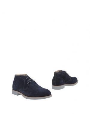 Полусапоги и высокие ботинки NERO GIARDINI. Цвет: темно-синий
