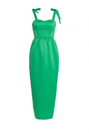 Платье из искусственного шелка 177160 Cyrille Gassiline. Цвет: зеленый