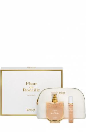 Набор Fleur De Rocaille: Туалетная вода + спрей Косметичка Caron. Цвет: бесцветный