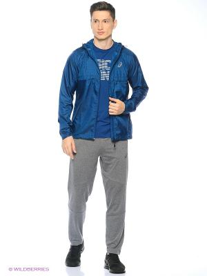 Куртка fuzeX PACKABLE JACKET ASICS. Цвет: синий