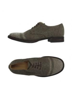 Обувь на шнурках 01000010 BY BOCCACCINI. Цвет: зеленый-милитари