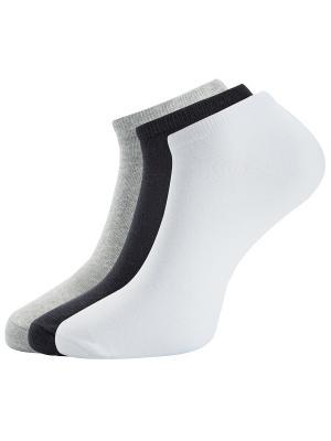 Носки, 3 пары Oodji. Цвет: черный, серый, белый