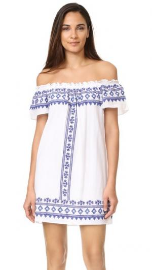 Платье Comporta с открытыми плечами Christophe Sauvat Collection. Цвет: белый