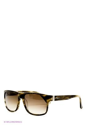 Солнцезащитные очки Salvatore Ferragamo. Цвет: серо-коричневый