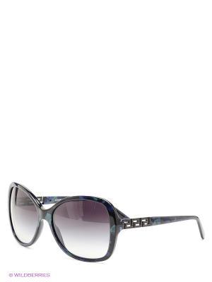 Очки солнцезащитные Versace. Цвет: темно-синий