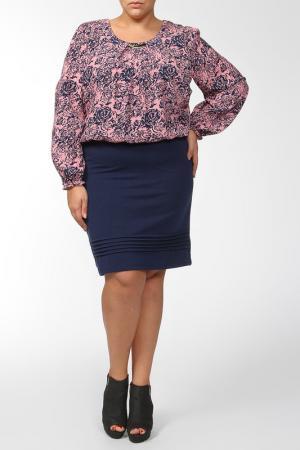 Платье QNEEL Q'NEEL. Цвет: синий, розовый