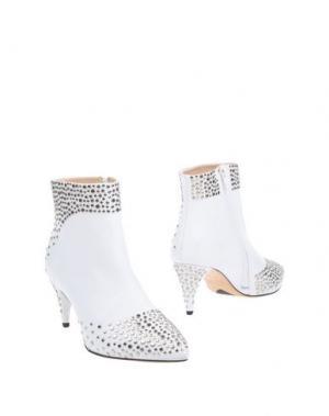 Полусапоги и высокие ботинки ERNESTO ESPOSITO. Цвет: белый