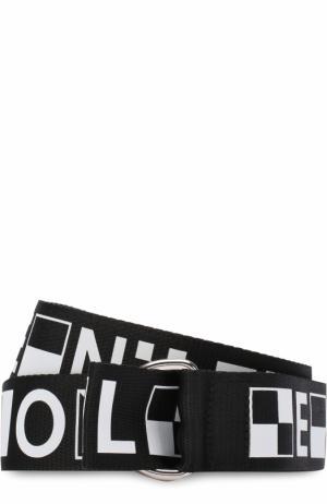 Текстильный ремень с принтом Proenza Schouler. Цвет: черно-белый