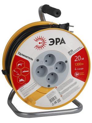 Силовой удлинитель  ЭРА RP-4-2x0.75-20m 20м. Цвет: оранжевый