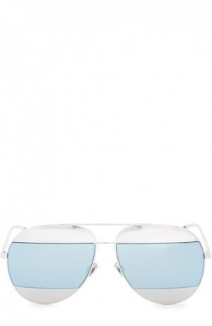 Солнцезащитные очки Dior. Цвет: светло-голубой