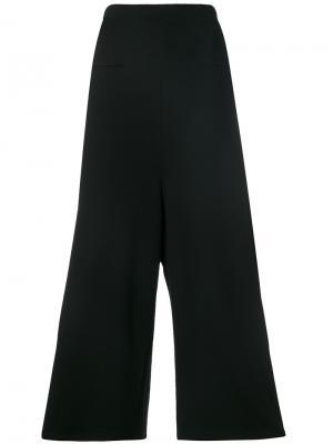 Расклешенные штаны Y-3. Цвет: чёрный