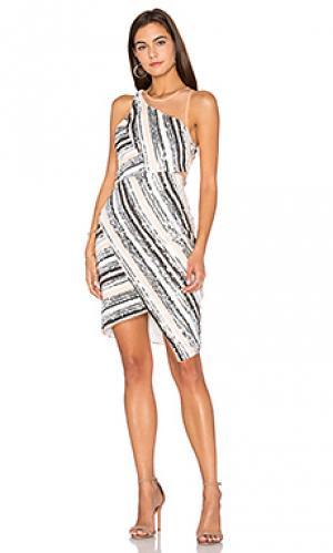Платье с прозрачным верхом beautiful parade Lumier. Цвет: белый