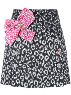 Мини-юбка с бантом Dolce & Gabbana. Цвет: чёрный