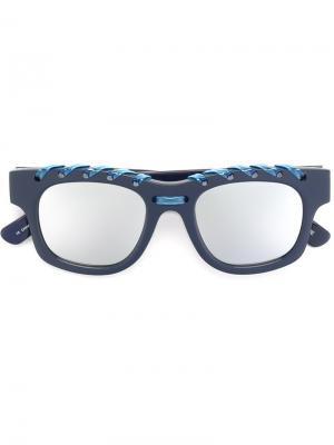 Солнцезащитные очки Ropey House Of Holland. Цвет: синий