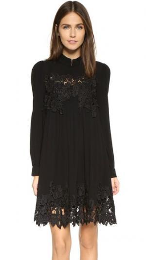 Связанное крючком платье в деревенском стиле re:named. Цвет: ржавчина