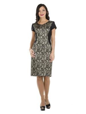 Платье PROFITO AVANTAGE. Цвет: черный, золотистый