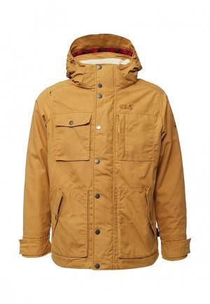 Куртка утепленная Jack Wolfskin. Цвет: желтый