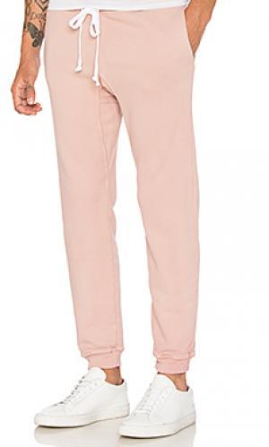Спортивные штаны из махровой ткани Rxmance. Цвет: розовый