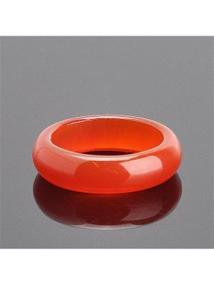 Кольцо Классика Сердолик Колечки. Цвет: оранжевый