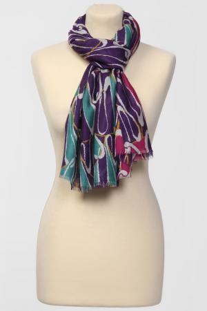 Палантин Frantelli. Цвет: фуксия, фиолетовый, бирюза