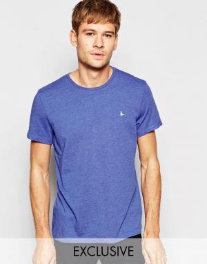 Jack Wills Эксклюзивная синяя меланжевая футболка с логотипом-фазаном. Цвет: синий