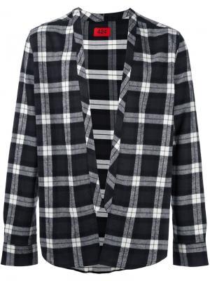 Клетчатая куртка-рубашка 424 Fairfax. Цвет: чёрный