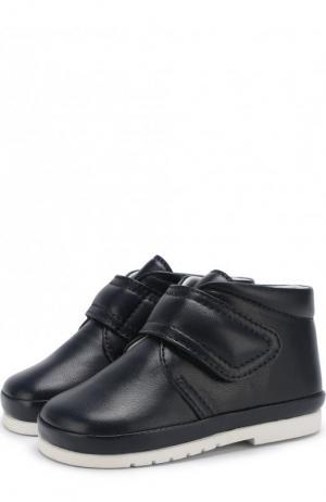 Кожаные ботинки на застежках велькро Gallucci. Цвет: синий