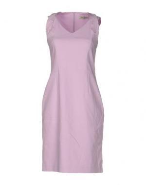 Короткое платье ANGELO MARANI. Цвет: светло-фиолетовый