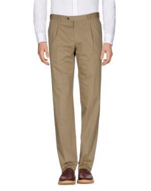 Повседневные брюки LUIGI BIANCHI Mantova. Цвет: зеленый-милитари