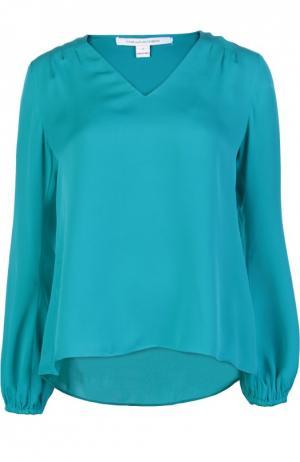 Блуза Diane Von Furstenberg. Цвет: бирюзовый