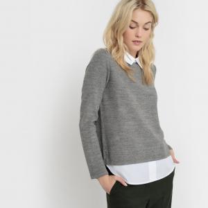 Пуловер с эффектом 2 в 1 Metective SUD EXPRESS. Цвет: серый меланж