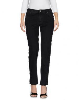 Джинсовые брюки CM.100. Цвет: черный