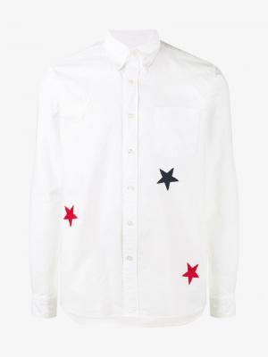 Рубашка с вышивкой звезд Sophnet.. Цвет: белый