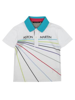 Футболка-поло Aston Martin. Цвет: белый
