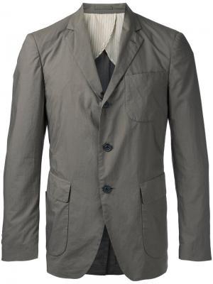 Пиджак с карманами клапанами Wooster + Lardini. Цвет: телесный