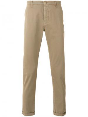 Классические брюки чинос с подворотами Pence. Цвет: телесный