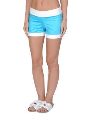 Пляжные брюки и шорты TWIN-SET Simona Barbieri. Цвет: лазурный