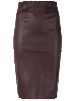 Юбка-карандаш Gilda Stouls. Цвет: красный