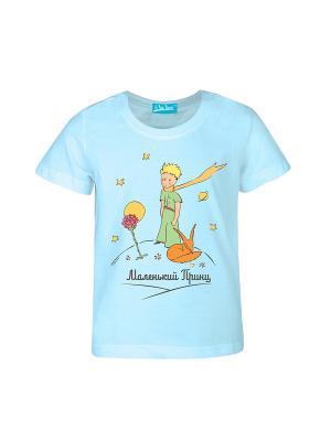 Футболка Маленький Принц Классический. Цвет: голубой