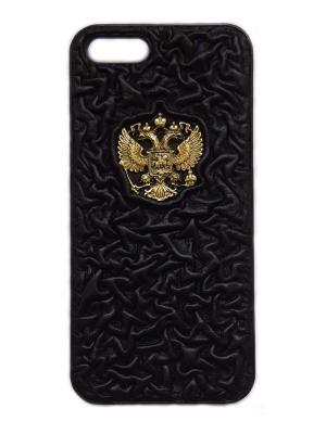 Накладка на айфон 5 бизнес Кожевенный дворъ. Цвет: черный
