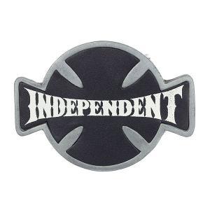Пряжка  Western Front Silver Independent. Цвет: серый,черный