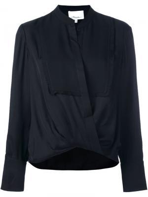 Драпированная блузка 3.1 Phillip Lim. Цвет: чёрный