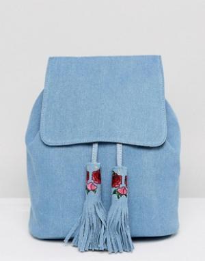 Skinnydip Джинсовый рюкзак Cressida. Цвет: синий