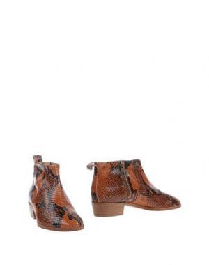 Полусапоги и высокие ботинки LES PRAIRIES DE PARIS. Цвет: коричневый