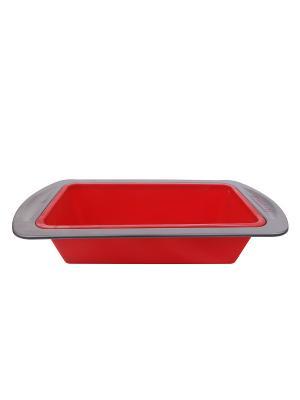 Форма для выпечки силикон 8,5*20*4 см Peterhof. Цвет: красный