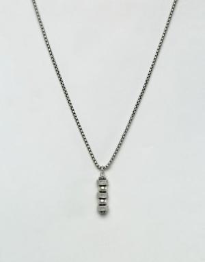 Steve Madden Ожерелье-цепочка. Цвет: серебряный
