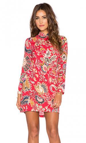Платье с длинным рукавом eastern ROLLAS ROLLA'S. Цвет: красный