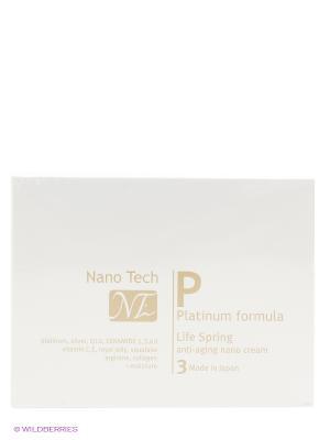 Увлажняющий дневной нано крем для коррекции морщин NanoTech Life Spring  . NANO TECH. Цвет: серебристый
